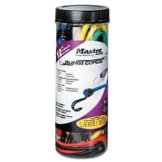 MasterLock Set 12 ks upínací gumy s háčky 3107EURDAT