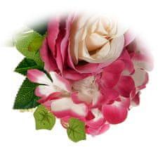 EverGreen Kytica ruže, hortenzie, 26 cm karmínová