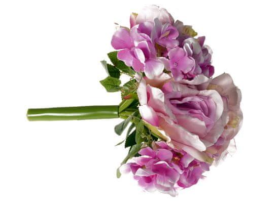 EverGreen Kytica ruže, hortenzie, 26 cm svetlá fialová