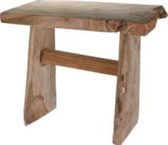 Koopman Rustikálna teaková stolička 42x26x35 cm