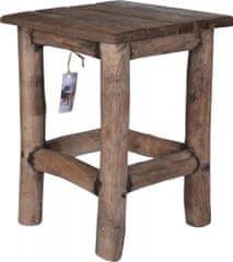 Koopman Rustikálna teaková stolička 30x30x42 cm