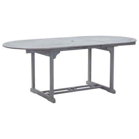 shumee Vrtna miza siva 200x100x74 cm trden akacijev les