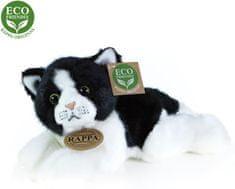 Rappa Eco-friendly plišasta mačka, ležeča, belo-črno, 16 cm
