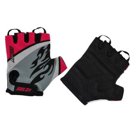 Rulyt biciklističke rukavice Sulov Junior L, crne/crvene