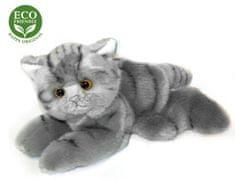Rappa ležeča plišasta muca, ECO-FRIENDLY, 16 cm, siva