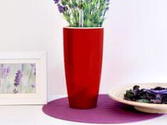 Greensun Samozavlažovací květináč GreenSun LIQUIDS průměr 12 cm, výška 23 cm, červený