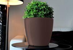 Greensun AQUAS Samozavlažovací květináč, průměr 35 cm, výška 34 cm, hnědý