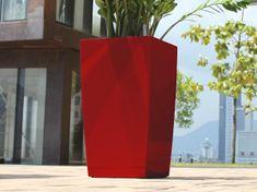 Greensun Samozavlažovací květináč GreenSun ICES 12x12 cm, výška 23 cm, červený