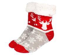 Astoreo Ponožky zimní, šedá, červená