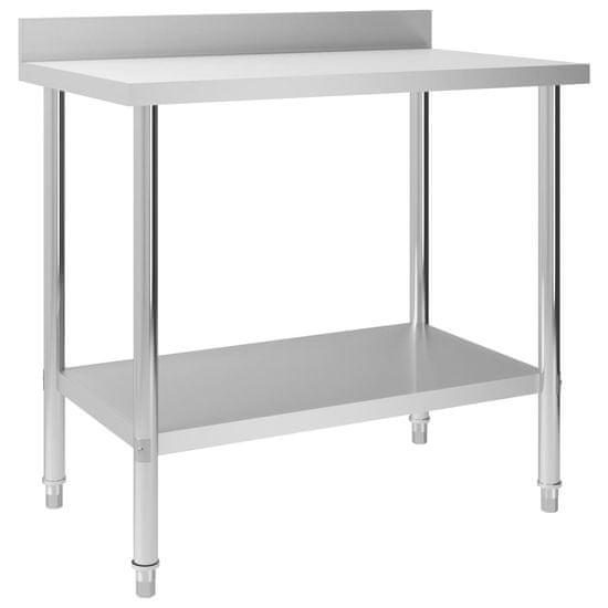 shumee Kuchynský pracovný stôl, prístenný 100x60x93 cm, oceľ