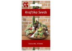 Kraftika 10 semen kaktusů, mix, exotické a vzácné sukulenty