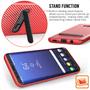 2 - Centopi silikonski ovitek Ultra Thin Slim Carbon za Samsung Galaxy S8 Plus Rdeč