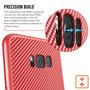 3 - Centopi silikonski ovitek Ultra Thin Slim Carbon za Samsung Galaxy S8 Plus Rdeč