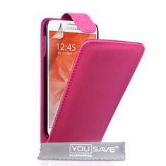 Yousave Flip bőrtok Leather-Effect Samsung Galaxy S6 Rózsaszín