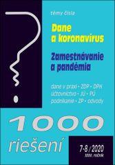 1000 riešení 7-8/2020 – Mimoriadne opatrenia v súvislosti s koronavírusom - Dane a zamestnávanie počas pandémie