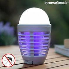 InnovaGoods 2-v-1 polnilna svetilka proti komarjem, LED lučka