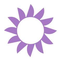 Naplotík Slunce na plot - fialové s bílým středem
