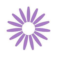 Naplotík Kopretina na plot - fialová s bílým středem