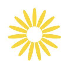 Naplotík Kopretina na plot - žlutá s bílým středem