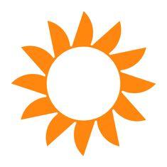 Naplotík Slunce na plot - oranžové s bílým středem