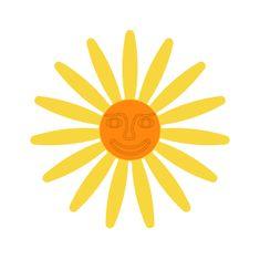Naplotík Kopretina na plot - žlutá s oranžovým středem s tváří
