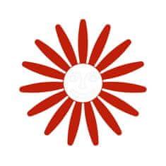 Naplotík Kopretina na plot - červená s bílým středem s tváří