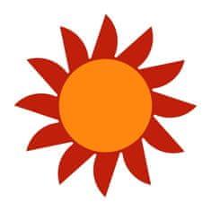 Naplotík Slunce na plot - červené s oranžovým středem