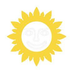 Naplotík Slunečnice na plot - žlutá s bílým středem s tváří