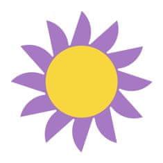 Naplotík Slunce dekorace na plot - fialové se žlutým středem