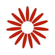 Naplotík Kopretina na plot - červená s bílým středem