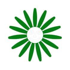 Naplotík Kopretina na plot - zelená s bílým středem s tváří