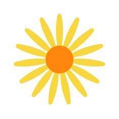 Naplotík Kopretina na plot - žlutá s oranžovým středem