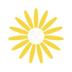 Naplotík Kopretina na plot - žlutá s bílým středem s tváří