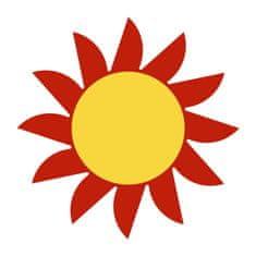 Naplotík Slunce na plot - červené se žlutým středem