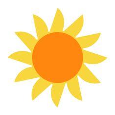 Naplotík Slunce dekorace na plot - žluté s oranžovým středem