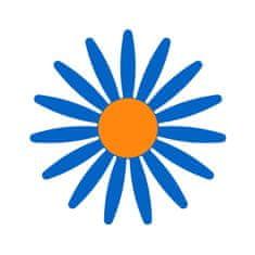 Naplotík Kopretina na plot - modrá s oranžovým středem