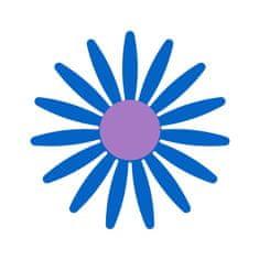 Naplotík Kopretina na plot - modrá s fialovým středem