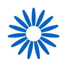 Naplotík Kopretina na plot - modrá s bílým středem s tváří