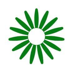 Naplotík Kopretina na plot - zelená s bílým středem