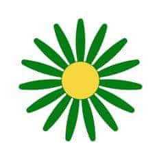 Naplotík Kopretina na plot - zelená se žlutým středem