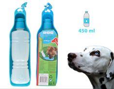 Plastenka 2 v 1, prenosna, za pse, 400 ml