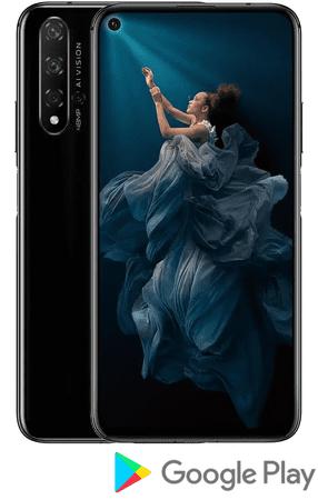 Honor 20 (Yale-L21A) mobilni telefon, DS, 128GB, polnočno črn, EEA