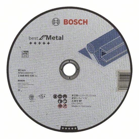 Bosch Dělicí kotouč rovný Best for Metal - A 30 V BF, 230 mm, 2,5 mm