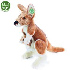 Rappa Plišasti kengurujček z mladičem, 32 cm Eco Friendly