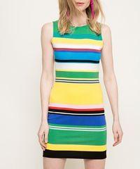 Desigual Pruhované šaty 73V2WX8/5020 Desigual Barva: Žlutá, Velikost: M
