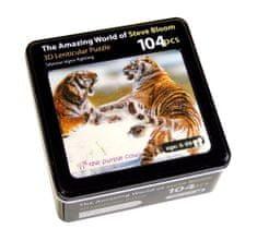 The Purple Cow Puzzle 3D - Sibiřští bojující tygři 104 dílků