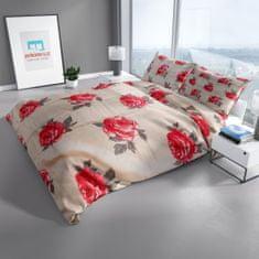 Povlečeme vše  Flanelové obliečky Baflan- Ruža z Himalájí 140x200 , 70x90cm