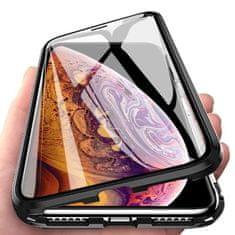 MG Magnetic Full Body Glass magnetické puzdro na Samsung Galaxy A51, čierne/priesvitné