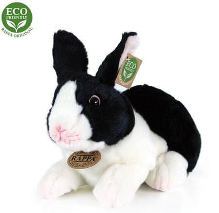 Rappa królik pluszowy, biało- czarny, leżący 24 cm, ECO-FRIENDLY