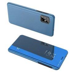 MG Clear View knížkové pouzdro na Samsung Galaxy A71, modré